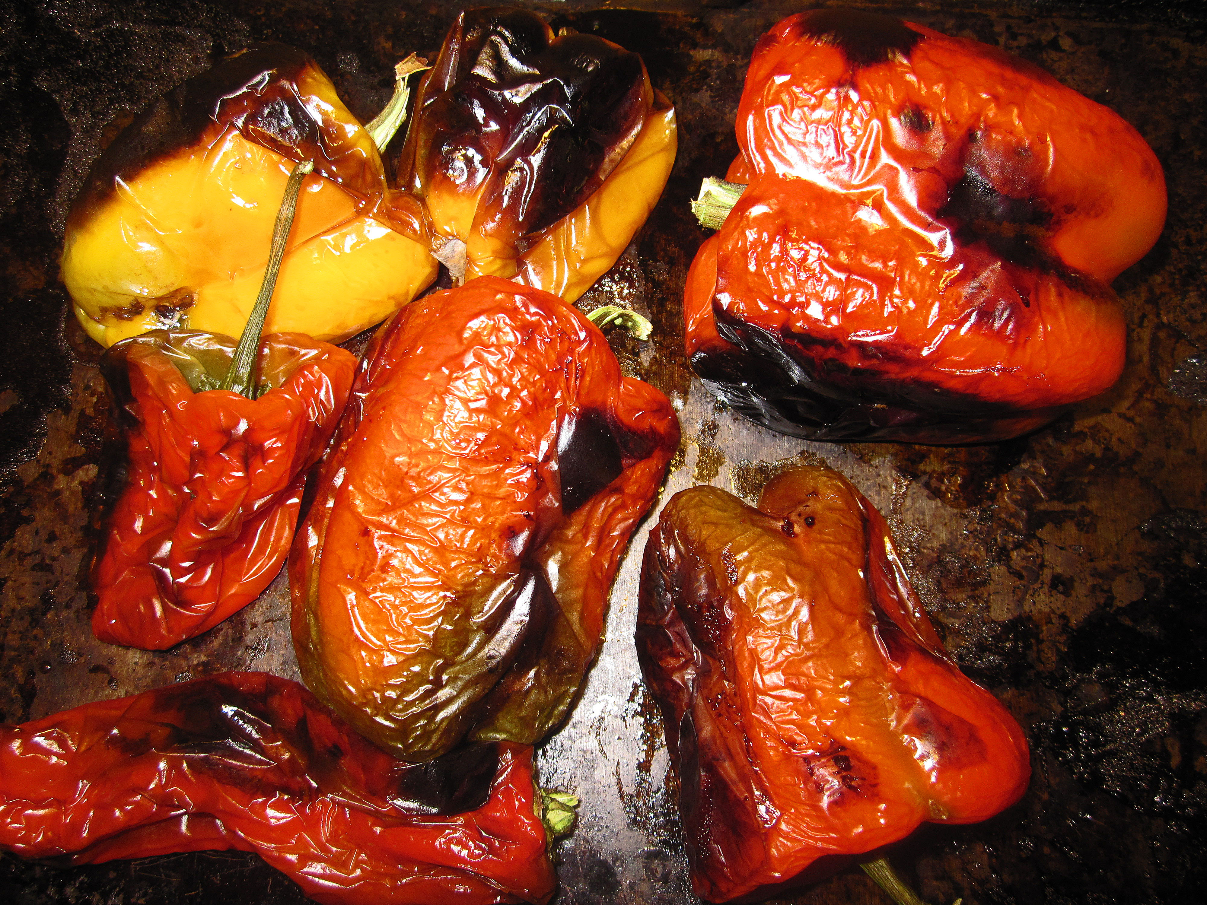 peppers roasted peppers with nectarines recipes dishmaps roasted