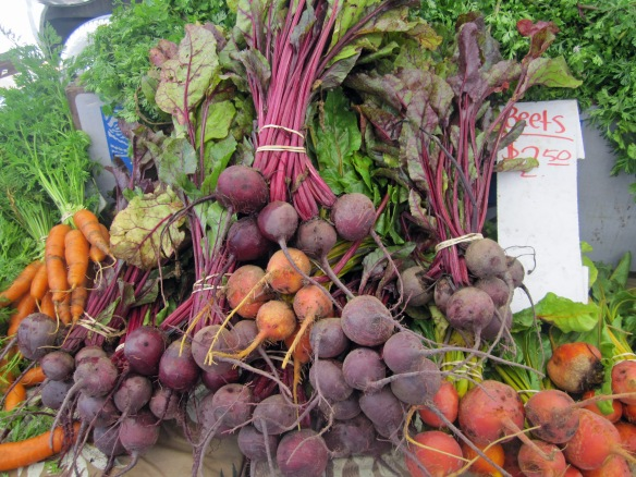 beets and carrots farm market