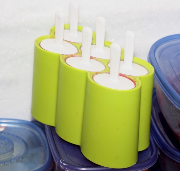 popsicles tucked away in freezer